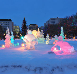 Ice sculptures in Edmonton